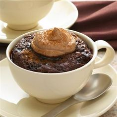 """Mexican Hot Chocolate """"Cup"""" Cakes with Cocoa Whipped Cream"""