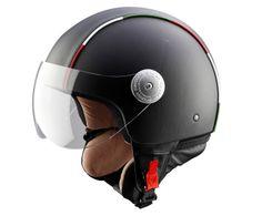 Handgefertigter Motorradhelm, Italia II, Kopfumfang 61 cm | Westwing Home & Living