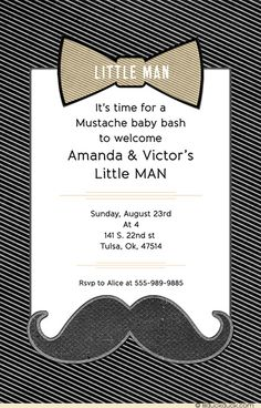 Image from http://lilduckduck.com/wp-content/uploads/2015/06/cute-little-man-baby-shower-invitation-black-white-gold-bow-tie.jpg.