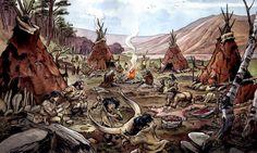 Emmanuel Roudier - Magdalenian hunter-gatherer camp