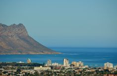 Strand Beach Road and Strand South suburb - as seen from Irene Avenue in Somerset West. Best Family Beaches, Somerset West, Beach Road, Cape Town, Seattle Skyline, Irene, San Francisco Skyline, South Africa, African