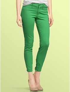 I'm loving the colored denim this season.  I already have green and red... which color should I get next??