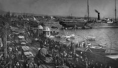 Port of Thessaloniki, 1916 The Turk, Thessaloniki, Sufi, Old Photos, Paris Skyline, Greece, The Past, Black And White, History