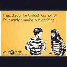 This.. this is legit. Donald Glover. Childish Gambino. Funny.