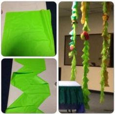 How to make table cloth vines