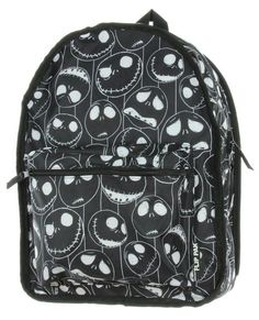 The Nightmare Before Christmas Jack and Sally REVERSIBLE Backpack!!