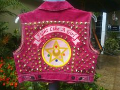Sailor moon punk vest jacket sailor moon patch by LunaticAdesigns