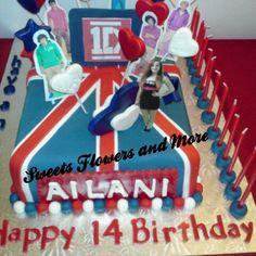 One Direction birthday cake.