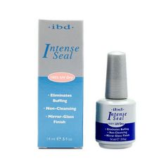 IBD Intense Seal Protect Dry Nail Top Coat salon for UV Gel Acrylic Wrap lasting Eliminates Buffing 0.5oz 14ML Non-Cleansing