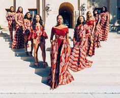This item is unavailable Wedding dress/bridal train/asoebi/shower/African print dress/dashiki print/women fashion/ankara dres African Wedding Attire, African Attire, African Wear, African Women, African Dress, African Bridesmaid Dresses, African Print Wedding Dress, African Style, African Fashion Ankara