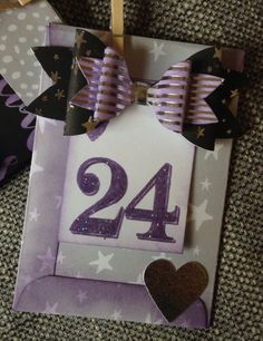 Advent garland created by Julie Hickey using Craftwork Cards Julie Loves Advent Calendar Kit with Noir de Luxe collection