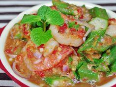 Okra Salad Recipe (with prawns)