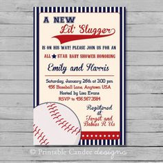 Baseball Baby Shower Invitations to give additional ideas in creating awesome baby shower invitation card 9766