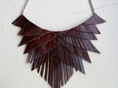 fr likes this ethnic style bib necklace tribal leather trend: LEAT .fr love this ethnic style tribal leather bib necklace: LEATHER JEWELRY Textile Jewelry, Fabric Jewelry, Jewellery, Jewelry Logo, Jewelry Quotes, Geek Jewelry, Brass Jewelry, Jewelry Holder, Gothic Jewelry