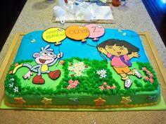cute dora cake my sister loves Dora,Emma.