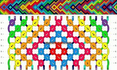 Normal Friendship Bracelet Pattern #11095 - BraceletBook.com