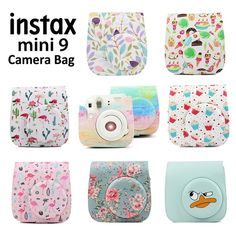 For Fujifilm Instax Mini 8 9 Film Instant Camera Carrying Case Bag Cover Shell Polaroid Instax Mini, Instax Mini Case, Polaroid Camera Case, Fujifilm Instax Mini 8, Instax Mini Ideas, 9 Film, Camara Fujifilm, Dslr Photography Tips, Vintage Cameras