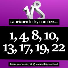 #Capricorn lucky numbers... ⭐