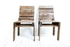 Chairs made from pallets to go around the fire