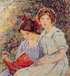 """Two Girls Reading"" / Robert Reid (1862-1929) / Private Collection"