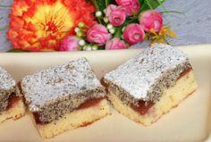 Fotorecept: Slivkový koláč makovo-tvarohový Cheesecake, Desserts, Food, Basket, Tailgate Desserts, Cheese Cakes, Dessert, Postres, Deserts