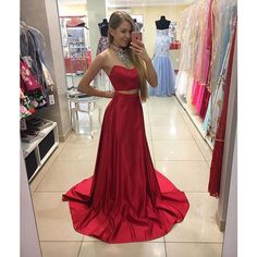 Red+Two+Pieces+Sweetheart+Teenagers+Cheap+Long+Prom+Dresses,+SWG158 COLOR:+picture+color+or+custom+color.+ **FABRIC+SWATCH** there+maybe+have+slight+color+difference+cause+of+the+monitor+and+light,+if+you+are+strict+about+the+color,+it's+better+contact+us+to+order+some+fabric+swatch+first....