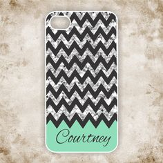 Glitter iPhone 4 Case, chevron iPhone 4 case, monogram iPhone 4 case, ( NOT REAL GLITTER)