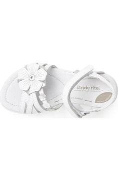Stride Rite 'Lucy' Sandal (Baby, Walker, Toddler & Little Kid) All About Shoes, Kids Fashion, Womens Fashion, Custom Shoes, Cancun, Baby Dolls, Baby Shoes, Nordstrom, Boots