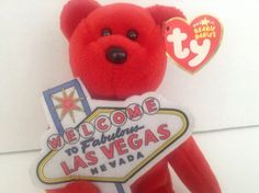 Ty Original Beanie Babies Welcome To Fabulous Las Vegas Nevada -Aces - 2006 #Ty