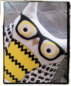Hipster Owl with Glasses Yellow Space by MyLittleFeather on Etsy