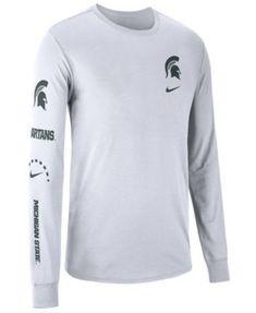 3b4477e6 Nike Men's Michigan State Spartans Long Sleeve Basketball T-Shirt - White L