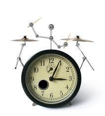 A drummer's alarm clock, for the rockstar in your entrepreneur.