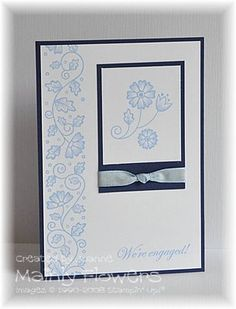 Mainly Flowers Independent Stampin' Up! Demonstrator Joanne Gelnar: Simple Engagement Card
