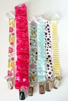 Easy + super cute DIY Pacifier Clips! {thecelestenest.com} #diy #pacifierclip #handmade #craft #baby