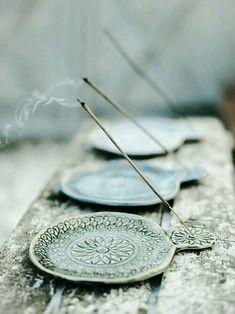 Incense burners in celadon