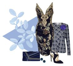 """Floral blues"" by michelletheaflack ❤ liked on Polyvore featuring Armani Collezioni, MANDALAY, Pierre Cardin, Giorgio Armani, Chanel, women's clothing, women, female, woman and misses"