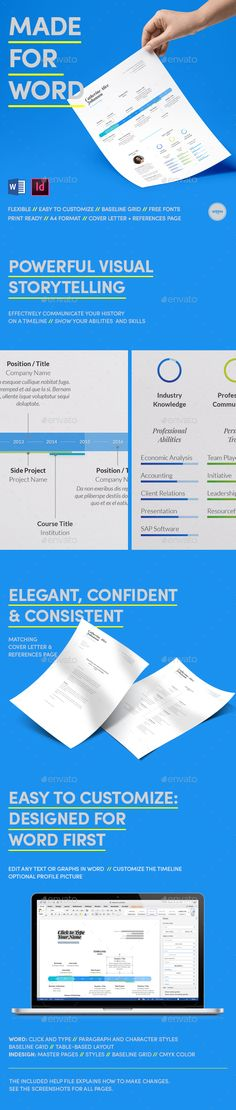 Resume   CV Resume cv, Professional resume and Cv template - word resumes