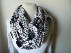 Houston Texans Cotton Infinity Scarf by LolaPickleson on Etsy, $20.00 I WANT REALLY BAD!!