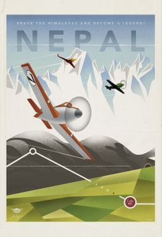 #DisneyPlanes Nepal Vintage Travel Poster ~Repinned Via Bill Piniros