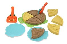 Seaside Sidekicks Sand Pizza Set | Toys for 3-4 year olds | Melissa and Doug