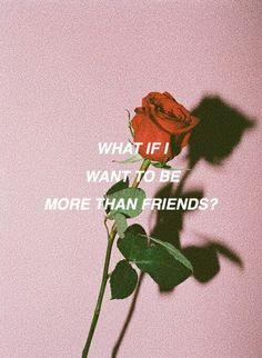 what if i want to be more than friends