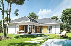 Projekt domu Parterowy- 118.23m2 - koszt budowy 184 tys. zł Planer, Bungalow, House Plans, Mirror, Gallery, Outdoor Decor, Home Decor, Home Plans, Decoration Home