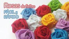 Cómo hacer rosas de fieltro (método fácil y rápido) | Aprender manualidades es facilisimo.com