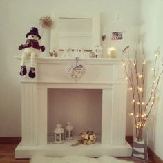 Mi chimenea por Navidad   Decoración