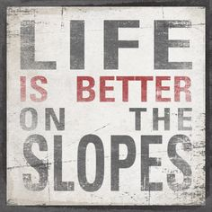 LIFE IS BETTER On The Slopes Original Alpine by AlpineGraphics