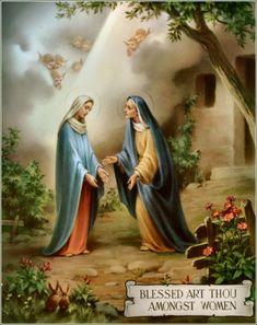 La visitacion de a Maria a su Prima Santa Isabel