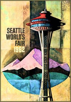 1962 Worlds Fair Seattle Washington Travel Advertisement Vintage Poster Retro…