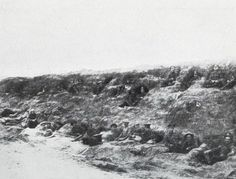 British troops resting behind the Somme front - like bees in a comb.