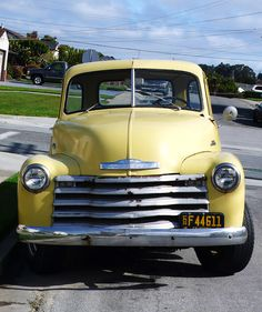Chevy pick-up truck.  Looks like a 1948 or '49.