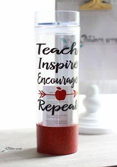 Teacher Tumbler Teacher Glitter Cup Teacher's by TheModernArrow